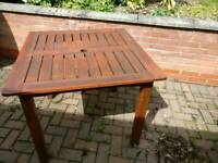 Hard wood table and 4 chairs