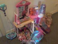 Barbie dolls house bundle