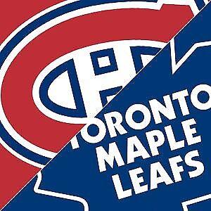 1 Billet pour Canadiens-Leafs  (150$ max)