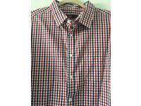 Men's F&F Brand New 2XL Red White & Blue Short Sleeve Check Shirt