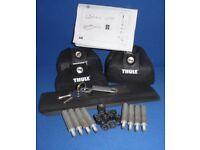 Thule Rapid System Aero Lockable Roof Bars for Honda CRV Mk 3 2007-2011