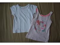 1 top and 1 vest top size 3/4 years