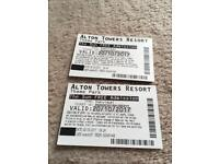 Pair of Alton towers tickets
