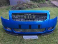 AUDI TT MK1 FRONT BUMPER PELICAN BLUE LY5T KINGFISHER 8N QUATTRO 1.8T