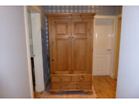 Double Natural Pine Handmade Wardrobe