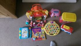 VARIOUS TOYS AND ELECTRONIC LEARNING TOYS