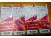 4 x Cat B World Championship Athletics - 5th August (Morning Session)