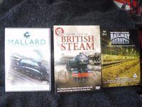 FIVE RAILWAY DVD's - SET OF THREE ' GLORY DAYS OF STEAM ' plus MALLARD plus WORLDS GREATEST JOURNEYS