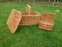 2 Wicker Picnic Baskets