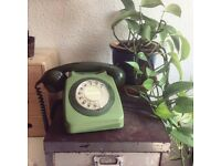 Retro two tone green telephone