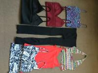 Selection of teenage girls as new tops and footless leggings.