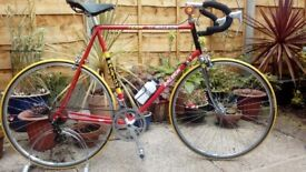 "vintage retro 1980s raleigh road bike large 25""frame"