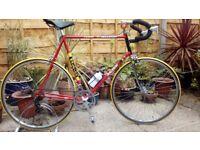 "vintage retro 1980s raleigh road bike large 25""frame"