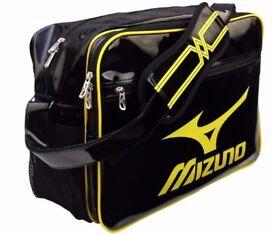 Mizuno Enamel Shoulder Bag 16DA030 96 Brand New Black/Yellow Size 45x20x32 см