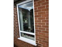 PVC window 85cm wide x 148cm high. White