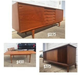Wide Selection of Mid Century Vintage Retro Finds