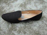Black Open Foot Shoes, UK Size 7