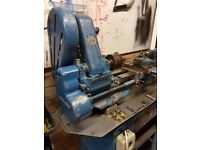 Myford ML7 lathe with bed reground. Stand & accessories included.