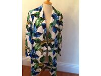Size 12 Atmosphere lightweight leaf print coat