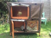 Rabbit / Guinea Pig HUTCH with cover