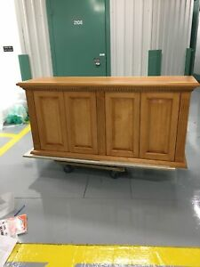 Beautiful New Wall Unit / Credenza in Solid Maple