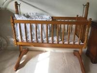 Elegant Wooden Crib/ Cot