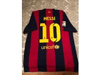 leo messi barcelona top 14/15 size large