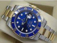 Rolex Submariner Swiss Blue & Gold