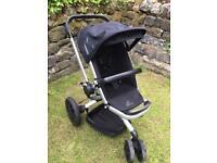 Quinny buzz rocking black pushchair Pram stroller multi recline