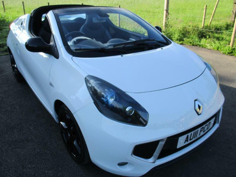 2011 Renault Wind Roadster Gt Line Vvt White And Black Convertible