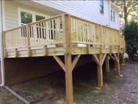 FENCES & DECKS BUILT AT A DISCOUNT RATE!!! QUALITY FINISH!