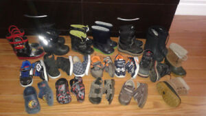 17 pairs of boys shoes/boots