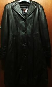 New, Soft Leather Brown Coat with removable warmer liner - $250