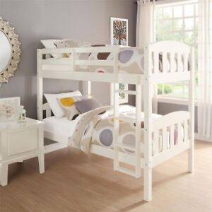 Twin bunk bed with 1 mattress