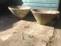 garden planters (concrete) rustic