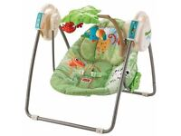 Fisher-Price Rainforest Baby Swing Chair + LeapFrog Learn Groove Activity Station +Various baby toys