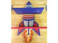 Lovely Rocket Boys Wooden Shelf