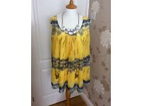 Yellow & silver sequence detail blouse (22)