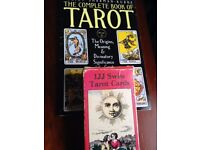 Vintage Tarot card set with matching instructional guidebook by Juliet Sharman-Burke.