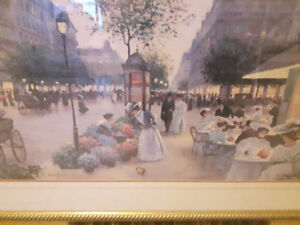 Christa Kieffer; Paris framed Print, Large Beautiful