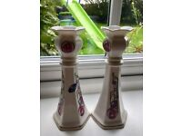 As new rennie mackintosh aynsley china candle holders