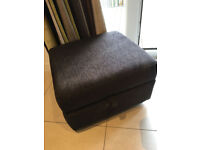 WELL MAINTAINED SOFA SET (2 SEATER SOFA, ARM CHAIR AND FOOT STOOL) USED