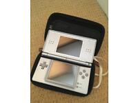 Nintendo DS lite, 20 games, charger & case