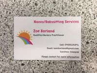 Nanny/Babysitting Service. ( Qualified Nursery Practitioner )