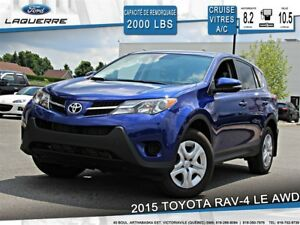 2015 Toyota RAV4 LE**AWD*CRUISE*A/C*BLUETOOTH**