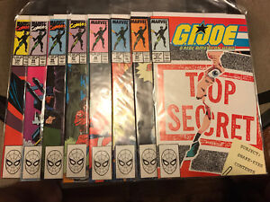 GI JOE COMICS #93-100, MARVEL COMICS
