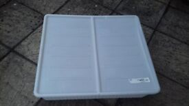 large plastic tray with lid underbed storage