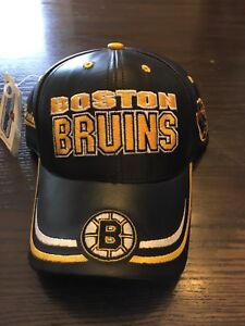 Leather Boston bruins hat