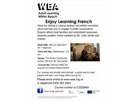 Enjoy Learning French. Classes for adults with Annette Binns.