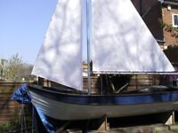 12ft 9in Sail Boat and Trailer - New Mast and Sails - Only used twice